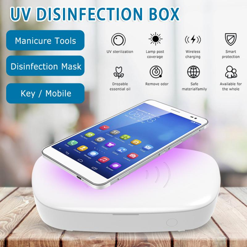 UV Light Anti Bacteria Sterilizer Box Jewelry Phone Cleaner Ultraviolet Ray Disinfector Nail Box