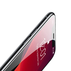 Baseus Curved-screen tempered glass screen protector with crack-resistant edges designed for iPhone11(Pack of 2)(Free Transparant Back Cover)