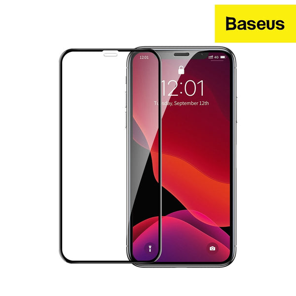 Baseus Curved-screen Edge-to-Edge tempered glass screen protector with crack-resistant edges designed for iPhone 11 (2019) - 0.23mm