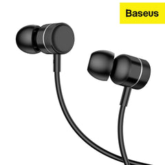Baseus in-Ear Wired Earphones with True HD Acoustics, Thumping Bass Aluminium Alloy Shell (H04)