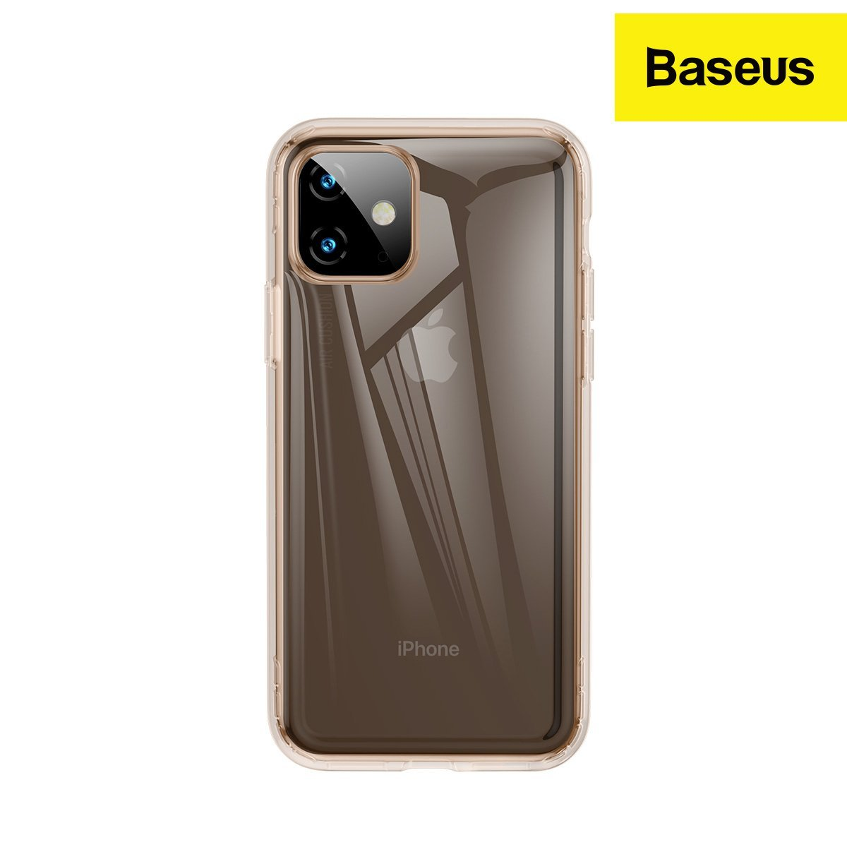Baseus Safety Airbags Case Back Cover Designed for iPhone 11 (2019) TPU Transparent Material with 360 Degree Protection (Transparent Black)