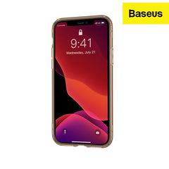 Baseus Safety Airbags Case Back Cover Designed for iPhone 11 (2019) TPU Transparent Material with 360 Degree Protection (Transparent Gold)