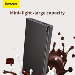 Baseus Power Bank 10000mAh with Digital Display | Type-C and Micro Input & USB Output - Black