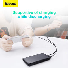 Baseus Mini Cu Power Bank 10000mAh Dual USB 2.1A Output and Micro Input - Black