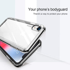 Baseus Safety Air Bag Case for iPhone Xs Max with Shock Proof Technology TPU Material Back Phone Cover (Clear Transparent)