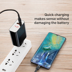Baseus Smart Power Off Digital Display 45W PD3.0+QC3.0 Type-C+ USB, Wall Charger for All Android and iOS Devices