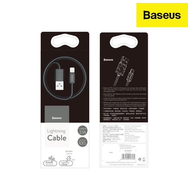 Baseus Yaven 2.1A TPE IP Cable for Strong Resistance (1M)