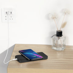 Baseus M36 Wireless Powerbank 10000mAh, Micro Input & 2 USB Output.