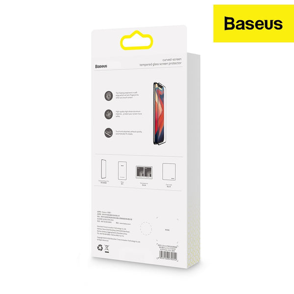 Baseus Curved-screen tempered glass screen protector with crack-resistant edges designed for iPhone11(Pack of 2)