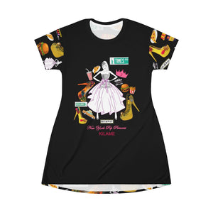 All Over Print T-Shirt Dress 'Pop Princess'