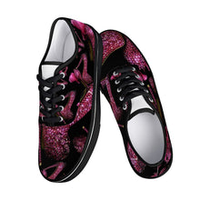 Load image into Gallery viewer, Skate Shoes - White/Black 'Pink crystals shoes'