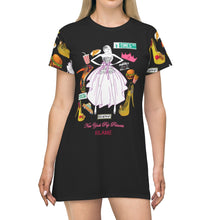 Load image into Gallery viewer, All Over Print T-Shirt Dress 'Pop Princess'