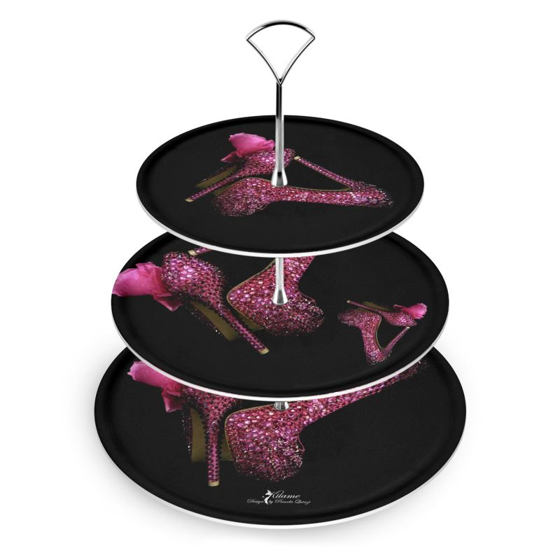 Cake Stand 'Pink crystals shoes'