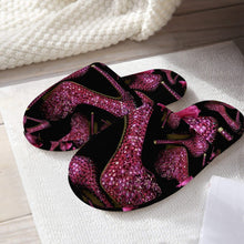 Load image into Gallery viewer, Classic Cotton Slippers 'Pink crystals shoes'