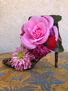 Pink Roses Torre Boots