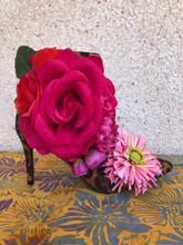 Load image into Gallery viewer, Pink Roses Torre Boots