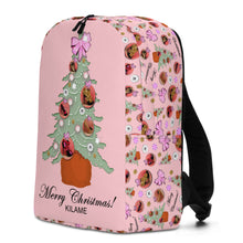 Load image into Gallery viewer, Minimalist Backpack 'Pink Christmas'