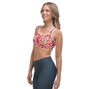 Sports bra 'Flowers mix shoes'