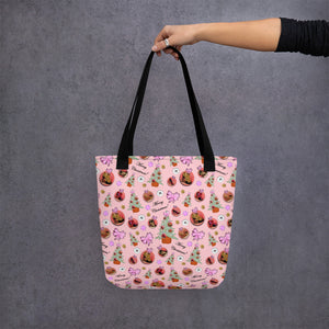 Tote bag 'Pink Christmas'