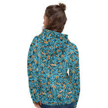 Load image into Gallery viewer, Blue Hoodie 'Shoes sea'