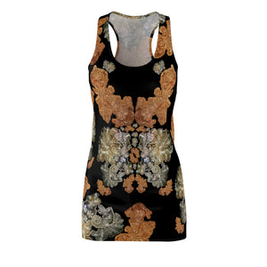 Women's Cut & Sew Racerback Dress 'Nude embroidery'