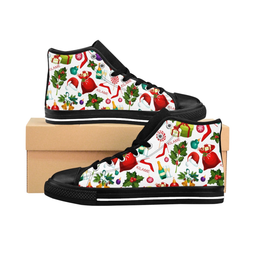 Women's High-top Sneakers 'Christmas party'
