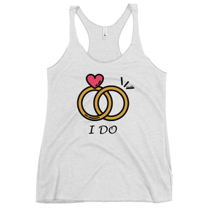 Women's Racerback Tank 'I DO'