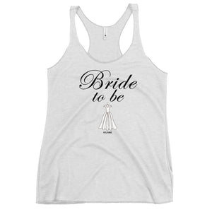 Women's Racerback Tank 'Bride to be'