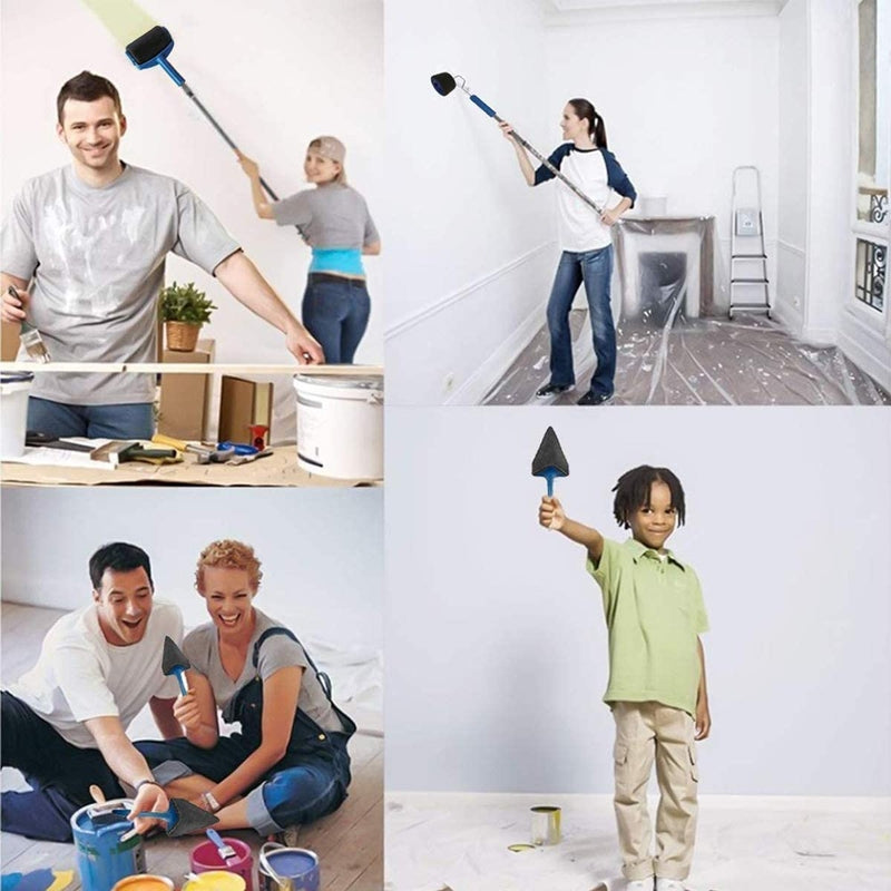 Multifunctional Seamless Wall Paint Roller Brush Kit(5 Pcs)
