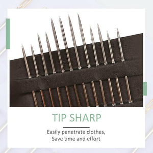 One Second Self-threading Needles (12 pieces)