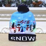 LED Light-Up Christmas Knitted Beanie