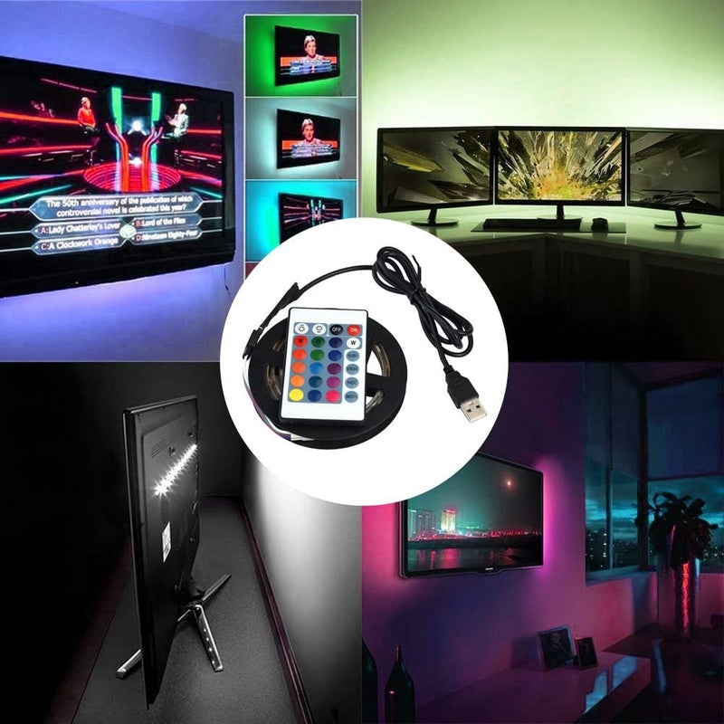 Multi-Color TV LED Lights Strip with Remote Control