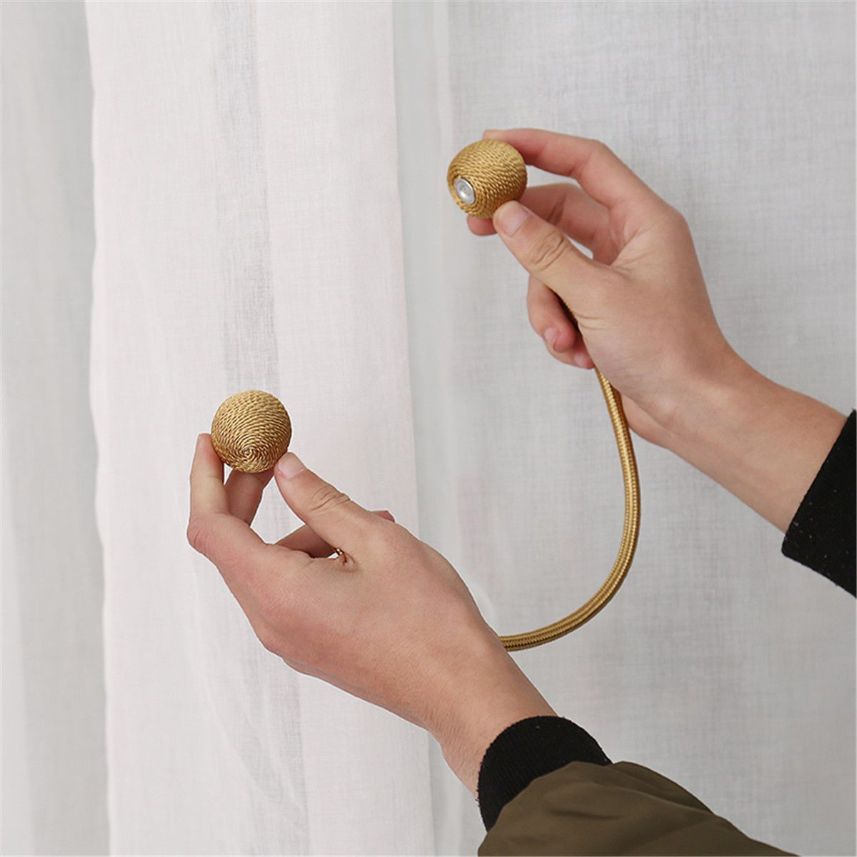 Magnetic Curtain Tieback Set