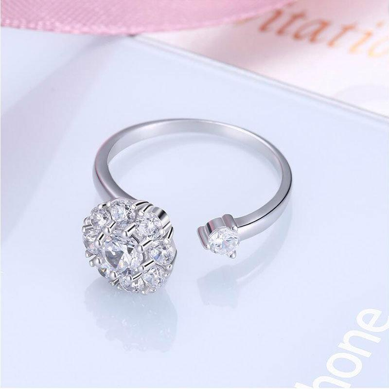 925 Sterling Silver Rotating Opening Ring