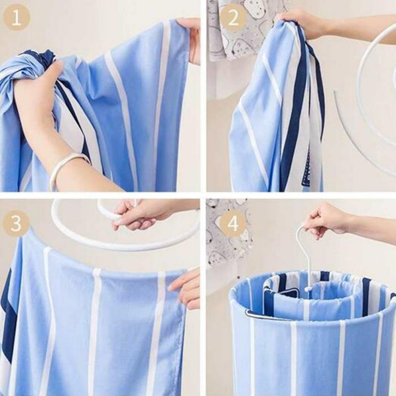 Spiral-Shaped Bed Sheet & Cover Drying Rack