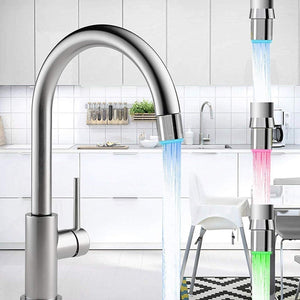 3-Color Temperature Sensor LED Water Faucet