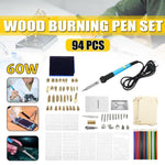 Wood Burning Pyrography Kit (94 pieces)