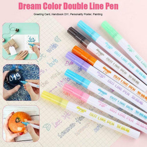 Dream Color Contour Pens (8 colors set)