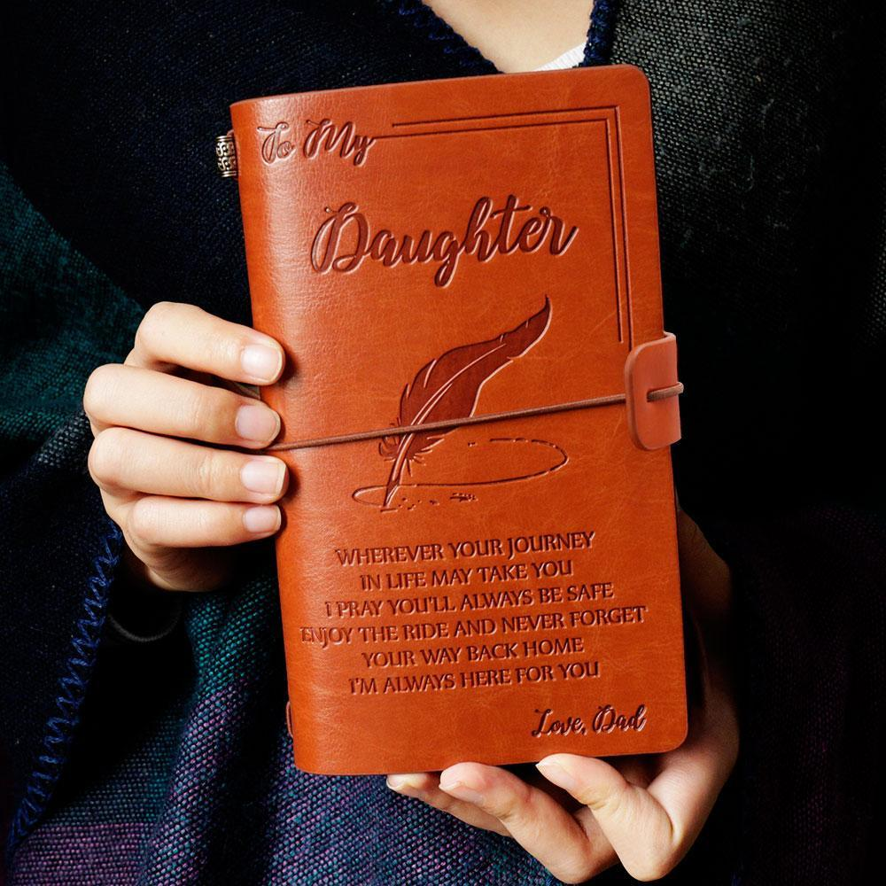 Daughter Dad Vintage Journal Notebook