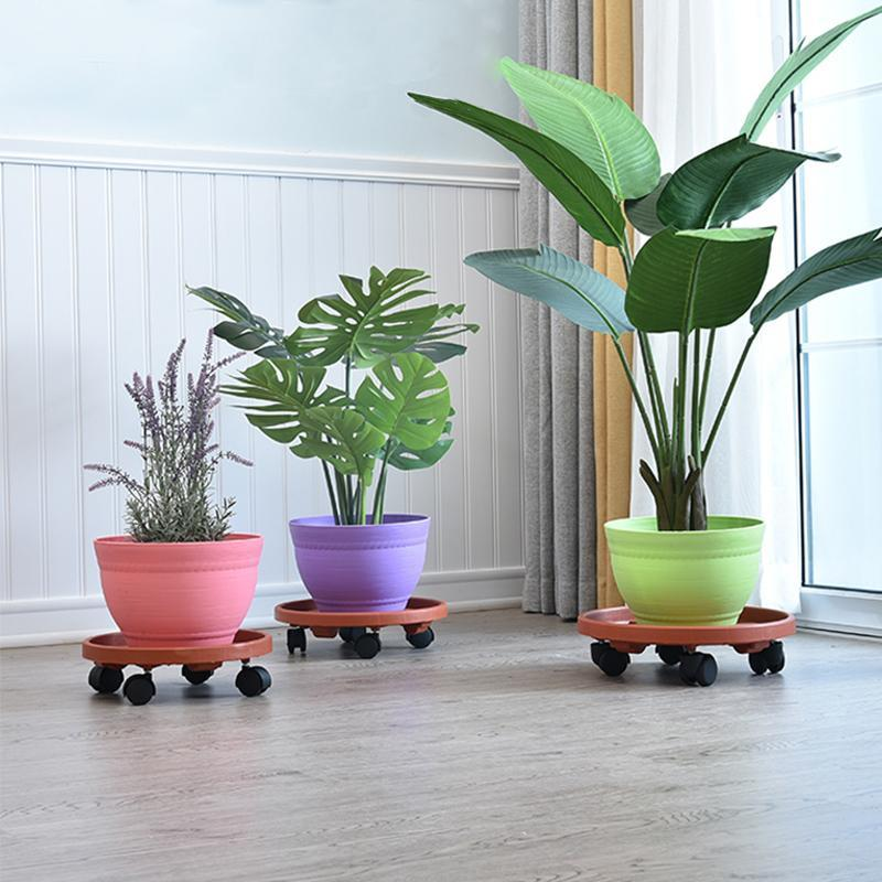 Movable Flower Pot Tray