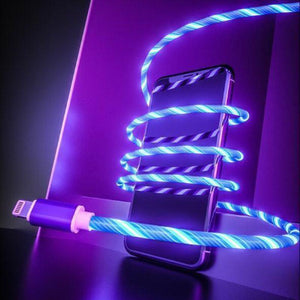 LED Flowing Luminous Phone Charging Cable (1 Meter)