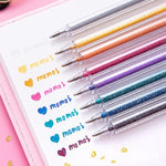 8 Colors Glitter Gel Pens