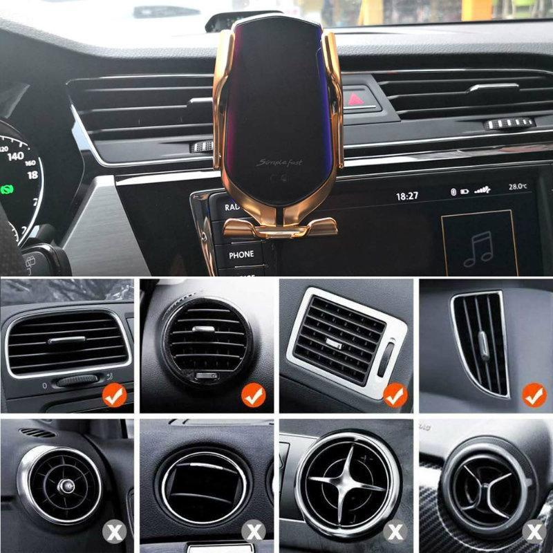 Smart Wireless Automatic Sensor Car Phone Holder Charger