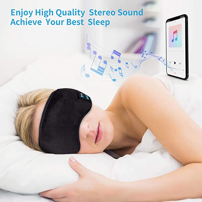 Bluetooth Sleep Eye Mask Wireless Headphones