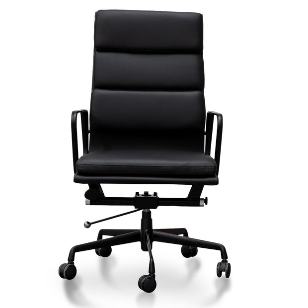 Soft Pad Executive Office Chair - Full Black