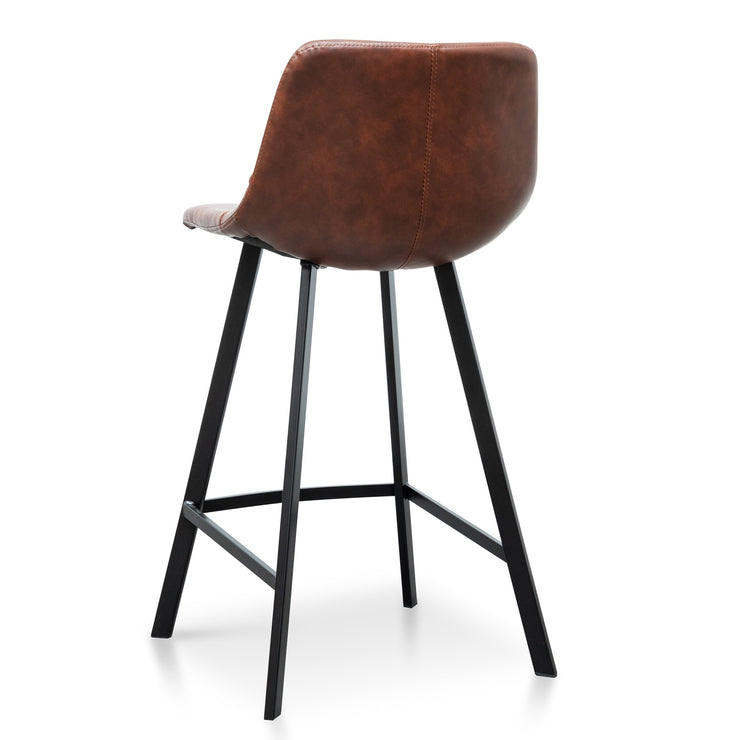 CBS2749-SE - 65cm Bar Stool - Cinnamon Brown PU Leather (Set of 2)