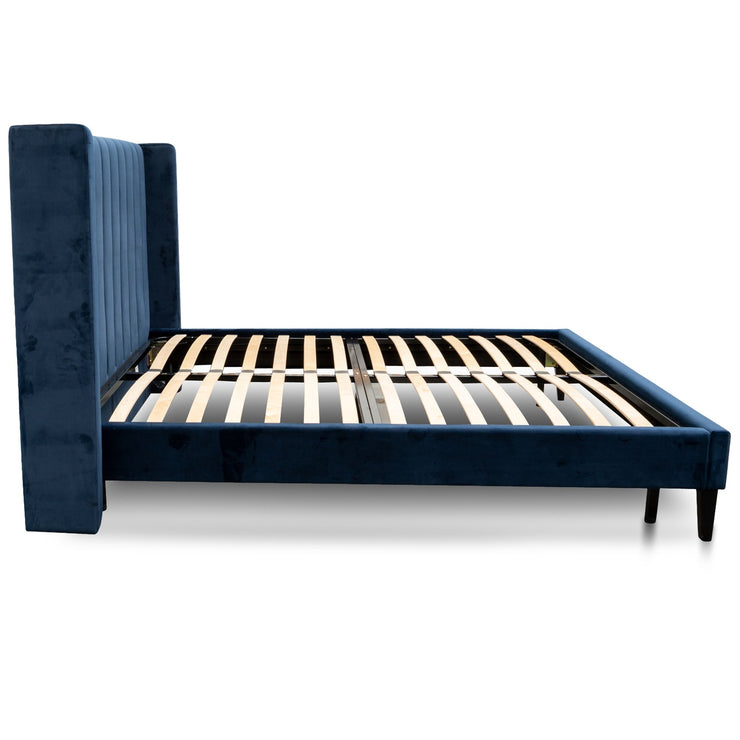 CBD2772-MI King Bed Frame - Navy Velvet