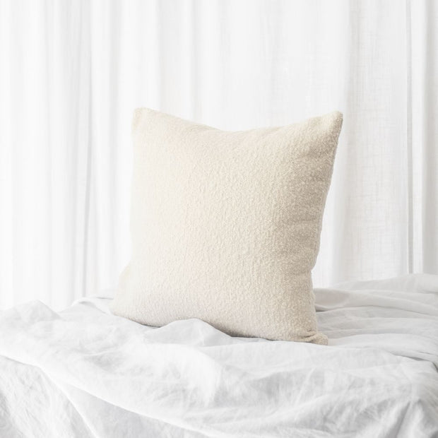 Benard Cushion Boucle Square | Ivory White