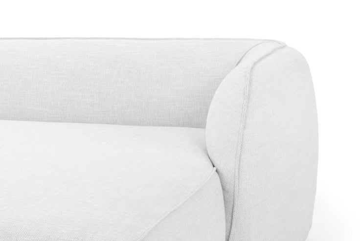 3 SEATER RIGHT CHAISE SOFA - LIGHT TEXTURE GREY