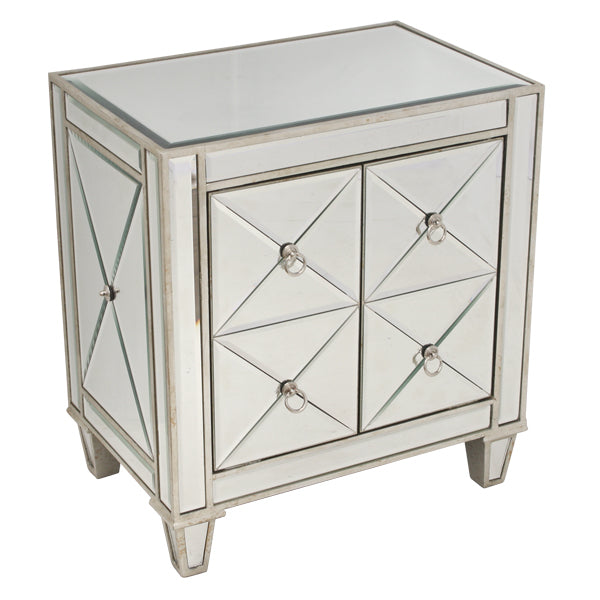 Bently Mirrored Bedside Table